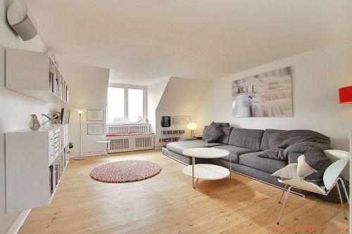宜家风格清新米色客厅设计欣赏