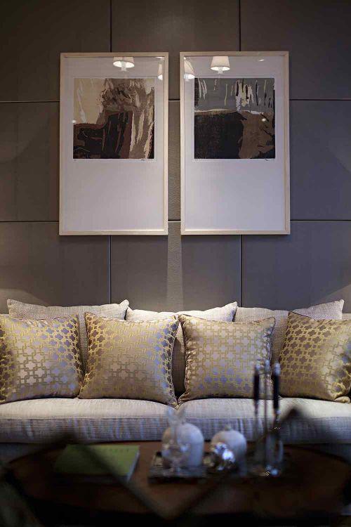 清爽温暖简欧风格客厅局部设计图片