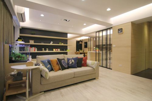 米色素雅宜家风格客厅装修设计