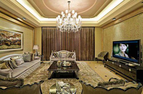 浪漫简欧客厅设计欣赏