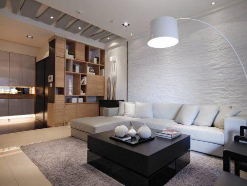 宜家风格米色客厅装饰设计图片