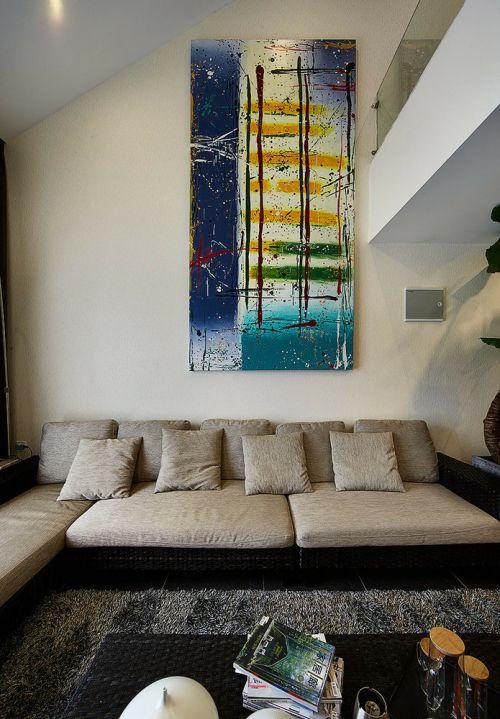 宜家风格清新米色客厅装潢设计