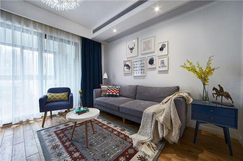灰色质感宜家风客厅装修图片欣赏