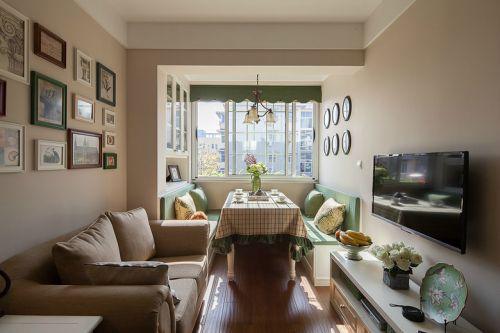宜家风格清新米色客厅设计图