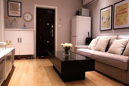 灰色宜家清爽风格客厅装饰图
