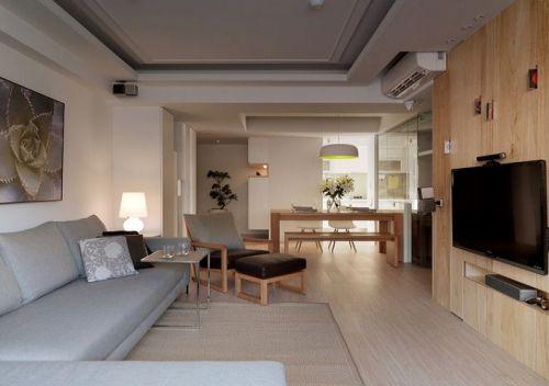 宜家风清新米色客厅装修案例