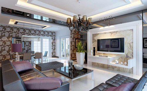 精美时尚简欧风格客厅装修设计