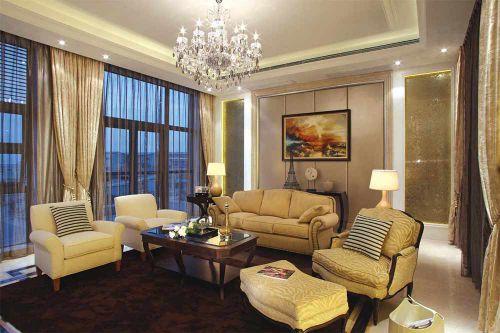 精致简欧风格客厅整体装修效果图
