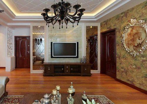 精致典雅简欧客厅设计效果图