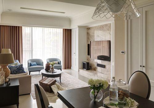 2016米色清新简欧风格客厅装修案例