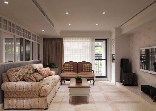 简欧风格米色客厅设计图片