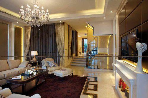 优雅古典简欧风格客厅别致祖昂或