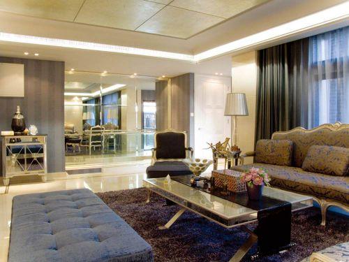 精致大气简欧风格时尚客厅设计图