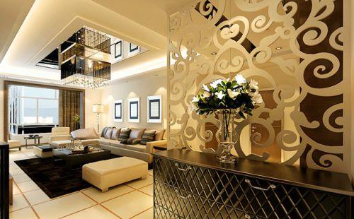 精致简欧风格黄色客厅效果图设计