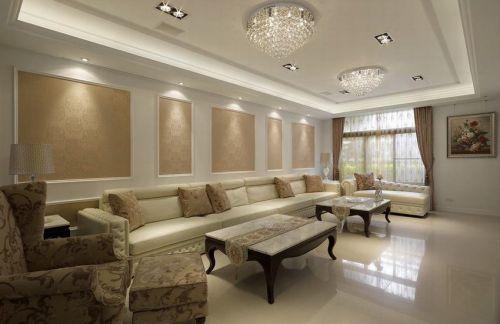 简欧风格黄色客厅装修设计