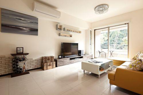 简欧风格米色客厅装潢设计