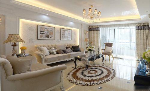 白色精致梦幻简欧风格客厅装修