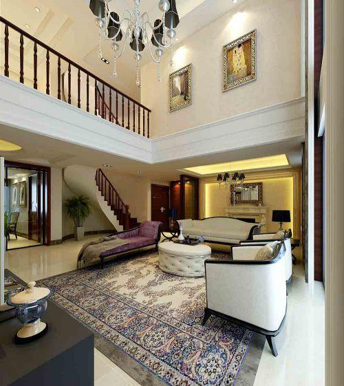 唯美优雅新古典主义别墅客厅装潢