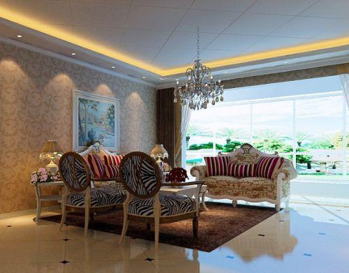 简欧风格浪漫客厅装修设计案例