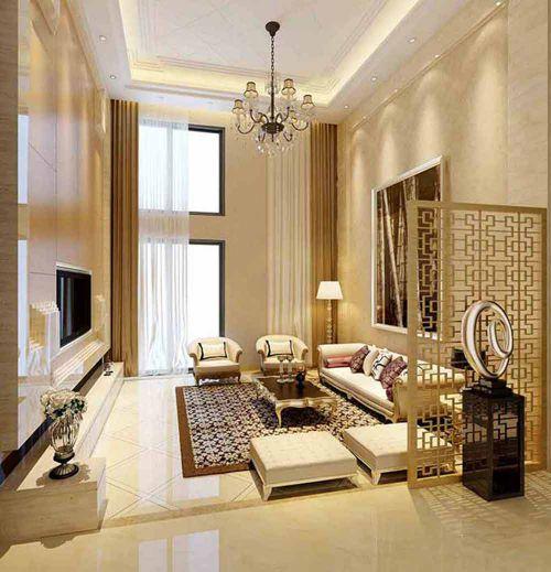 精品高雅新古典客厅整体设计效果图