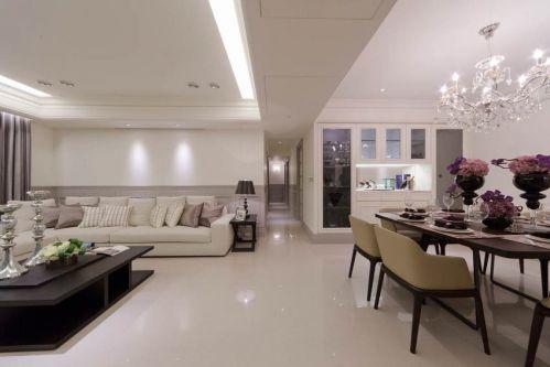 精致典雅新古典风格白色客厅装饰图