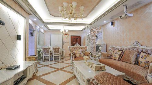 优雅自然简欧米色客厅装饰案例
