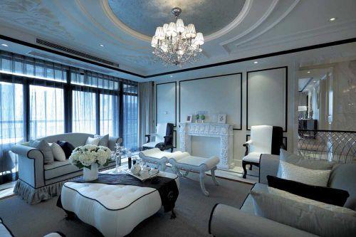 雅致清新简欧风格客厅设计装潢