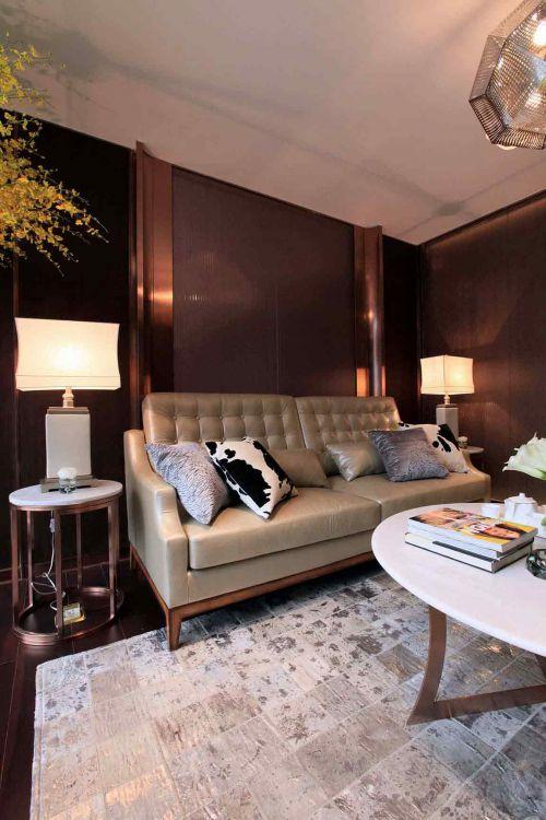 舒适典雅简欧风格客厅设计欣赏