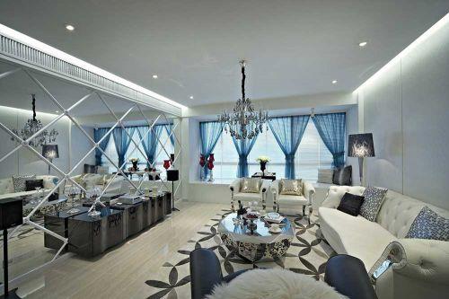 前卫时尚简欧风格客厅装潢设计