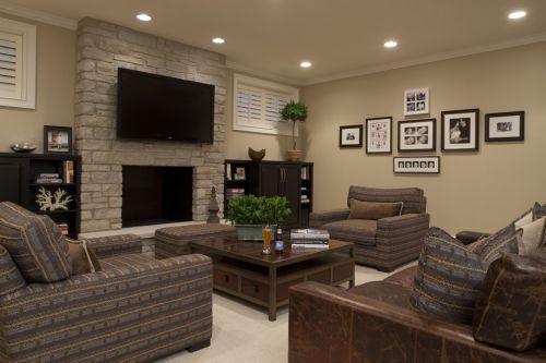 新古典风格质感灰色客厅装饰图