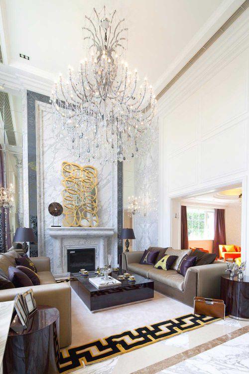 华丽精美新古典客厅装修案例