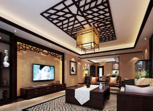 新古典风格质感原木色客厅装修图片