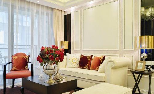 简欧风格大气白色客厅装潢案例