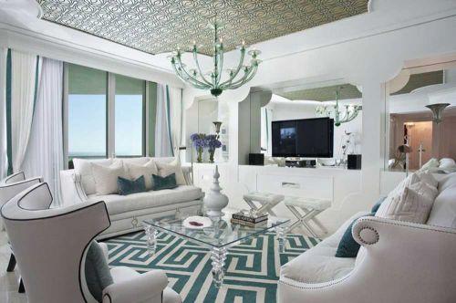 时尚大方简欧风格客厅浪漫装潢