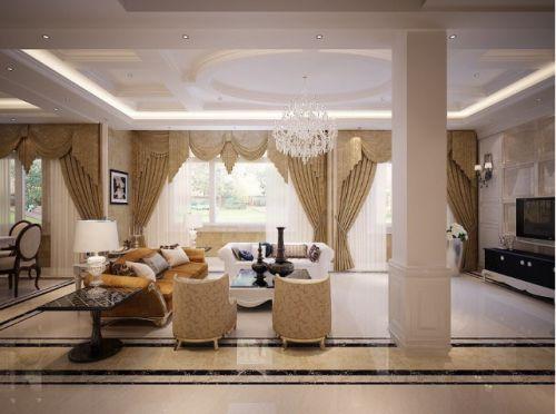 雅致简欧风格客厅装潢设计欣赏