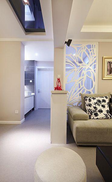 时尚简欧客厅隔断设计
