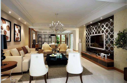 简欧复杂客厅装潢设计