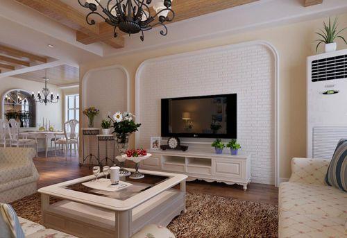 白色素雅温馨简欧风格客厅室内装饰