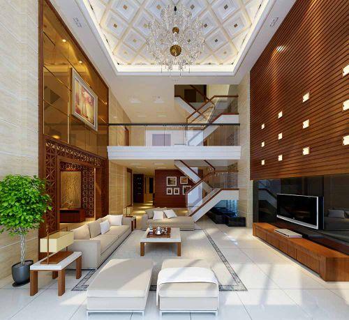 简欧设计别墅客厅装修效果图片