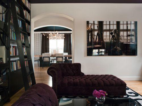 浪漫温馨舒适简欧风格黑色客厅设计图片