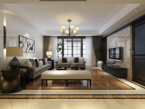 精致优雅简简欧浪漫风格客厅装潢设计