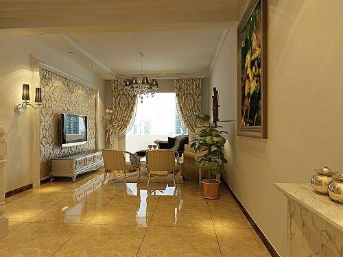 古典大气简欧风格客厅布置展示