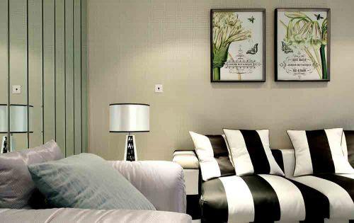 时尚经典黑白雅致简欧风格客厅装修局部展示