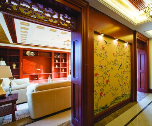 新古典客厅隔断装修图片