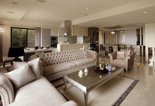 雅致清爽简欧风格客厅装潢设计