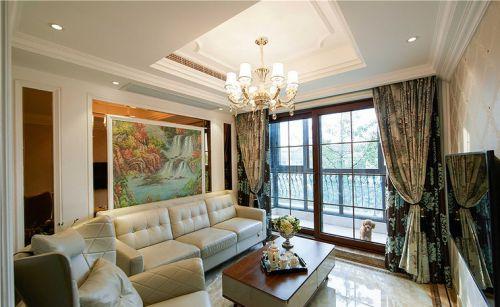 简欧米色客厅装修设计