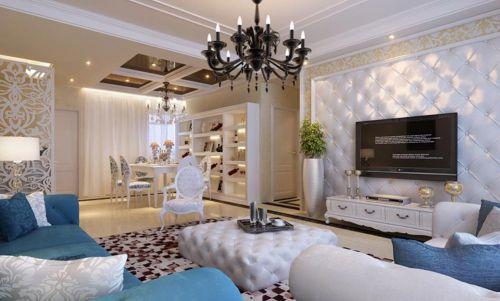 时尚精美简欧风格浪漫客厅设计
