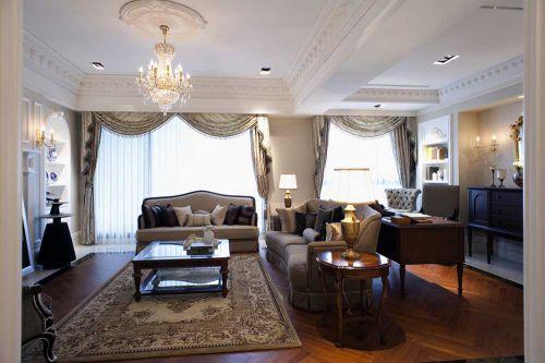 华丽简欧风格客厅装修案例欣赏