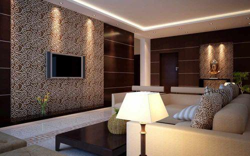 精致时尚简欧风格客厅设计装潢