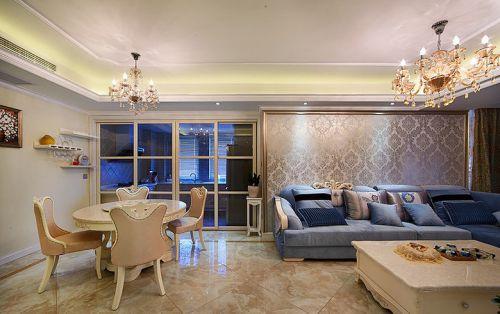 米色简欧风格雅致客厅设计欣赏